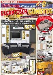 Kranepuhls optimale Möbelmärkte: Aktuelle Wohntrends - gigantisch günstig!