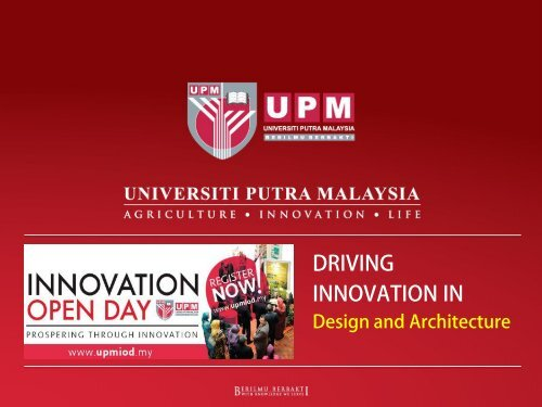 UPM Design and Construction Innovation for Commercialisation
