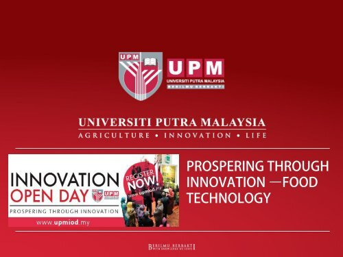 UPM Food Technology for Commercialisation