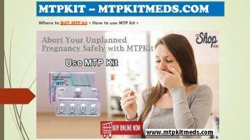 Buy MTP Kit | MTP Kit Online | Mifepristone & Misorostol