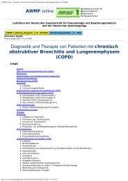 AWMF online - Leitlinie: Chronisch Obstruktive Bronchitis und ...