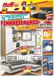 Finanzierungswochen bei Rolli-SB Möbelmarkt - erste Rate geschenkt!