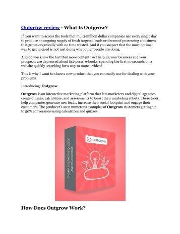 Outgrow review-$26,800 bonus & discount