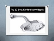 Top 10 Best Kohler showerheads