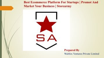 Best Ecommerce Platform For Startups - Storearmy