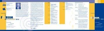 Forum der Lehre 2010: Lernen, Leben, Lehren ... - DiZ