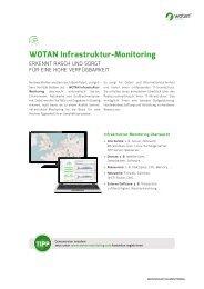 WOTAN Infrastruktur-Monitoring