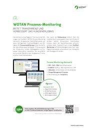 WOTAN Prozess-Monitoring