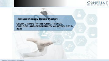 Immunotherapy Drugs Market – Global Industry Insights, Trends, and Opportunity Analysis, 2017-2025