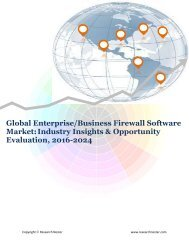 Global Enterprise Firewall Software Market (2016-2024)- Research Nester