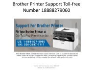 Brother Printer Support Toll-free Number