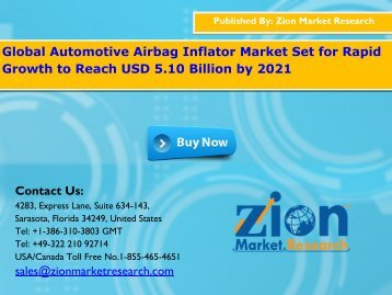 Global Automotive Airbag Inflator Market, 2015 – 2021