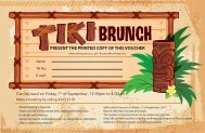EID Brunch Voucher