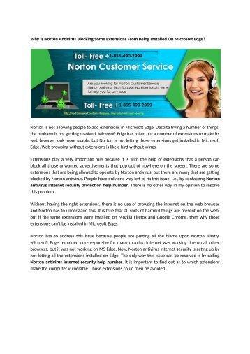 1-855-490-2999 Norton Internet Security