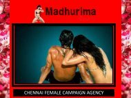 Enjoy unforgettable  erotic experiences at Chennai by Madhurima Shetty