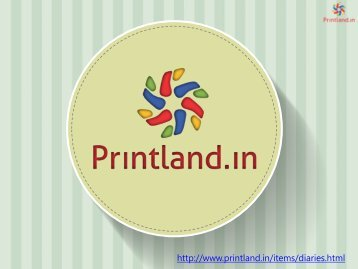 Buy Personalized and Customized Diaries with Logo and Name Printed Online in India - PrintLand.in