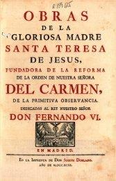 Obras de La Gloriosa Santa Teresa de Jesus Tomo II
