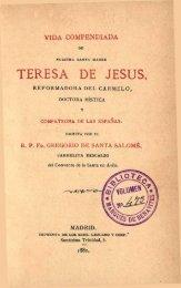 Vida Compendiada de Santa Teresa de Jesus
