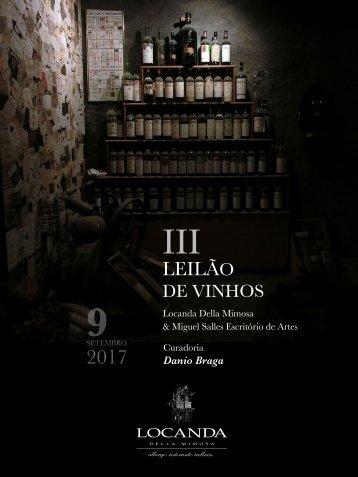 Leilao de vinhos Locanda