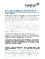 High Resolution Dispensing Systems Equipment Market