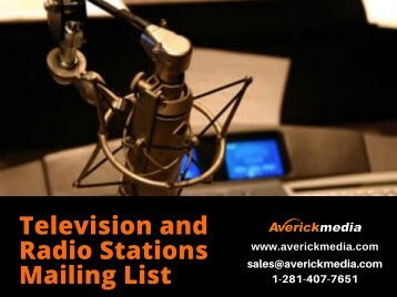 Television and Radio Stations Mailing List