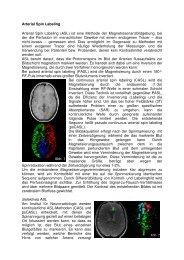 Arterial Spin Labeling - Neuroradiologie - Kiel