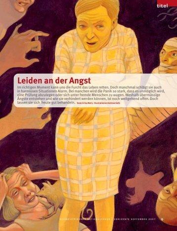 Leiden an der Angst - Schweizerischer Nationalfonds (SNF)