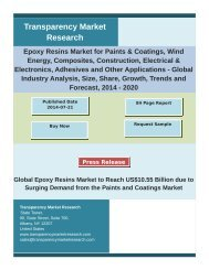 Epoxy Resins Market - Global Industry Analysis and Forecast   2020
