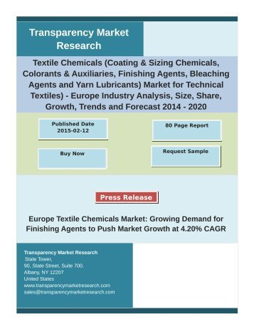 Textile Chemicals Market by Regional Analysis, Key Players and Forecast 2020