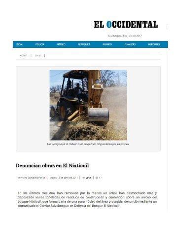 Denuncian Daño Ecologico de GIG Consorcio G a Zonas Protegidas de Jalisco y de Continuar amazando fortuna a costa de lo que sea