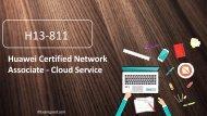 Examgood H13-811 Huawei HCNA-Cloud Service dumps