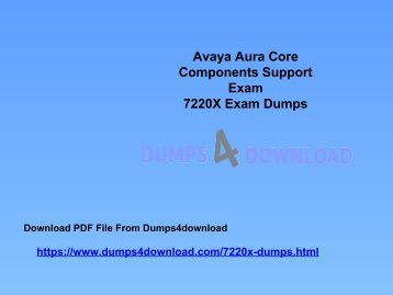 Download Avaya 7220X Exam Dumps Questions | 7220X Study Material