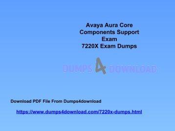 Download Avaya 7220X Exam Dumps Questions | 7220X Study Material