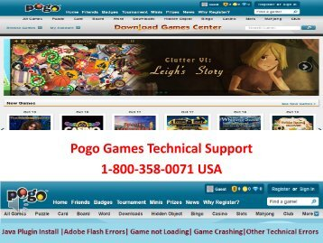 Contact Pogo Customer Service 1-800-358-0071 Toll Free