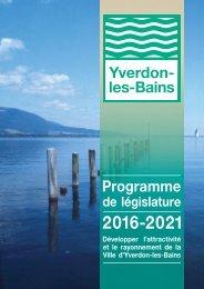 Programme de législature 2016-2021
