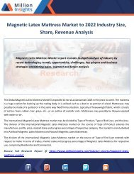 Magnetic Latex Mattress Market to 2022 Industry Size, Share, Revenue Analysis