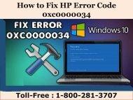 8002813707 How to Fix HP Error Code 0xc0000034