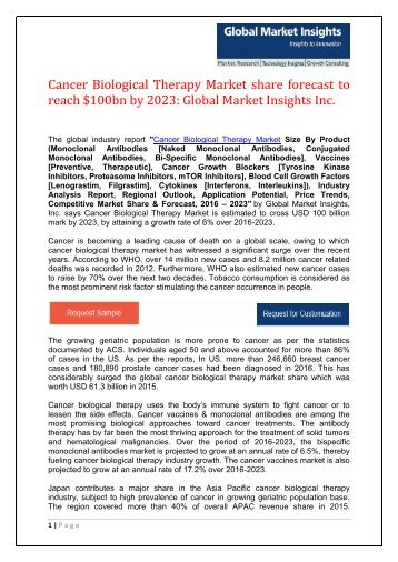 PDF - Cancer Biological Therapy Market WORDPRESS