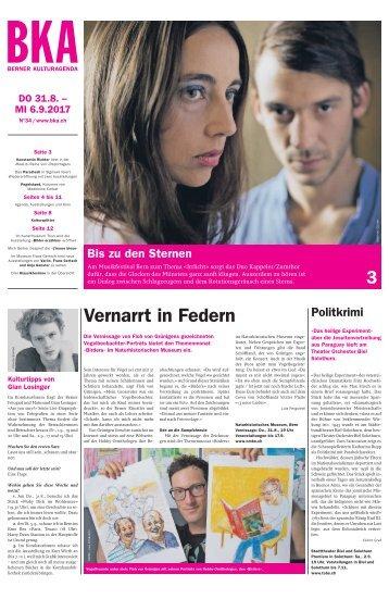 Berner Kulturagenda 2017 N° 34