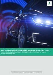 Global Automotive Adaptive Lighting Market, Analysis and Forecast