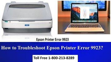 How to Troubleshoot Epson Printer Error 9923