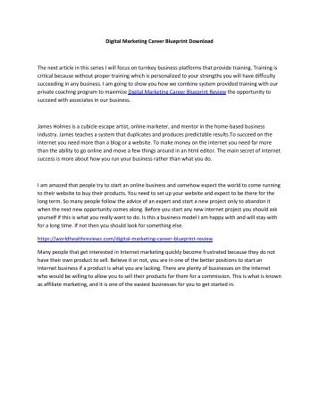 Digital Marketing Career Blueprint Download