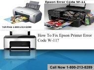 How To Fix Epson Printer Error Code W-11