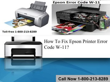 How To Fix Epson Printer Error Code W-11
