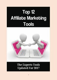 Top 12 Affiliate Marketing Tools