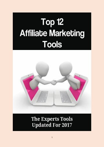 Top 12 Affiliate Marketing Tools