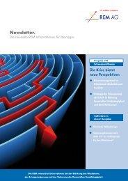 Management Newsletter der REM AG - Ausgabe 1/2010