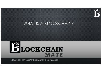 Blockchain Introduction by BlockChain Mate