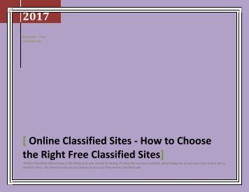 How to Write and Craft Your Online Free Ads