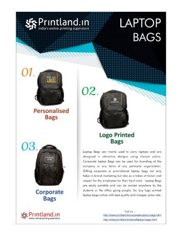 Bulk Laptop Bags - Buy Promotional and Corporate Laptop Bags with Logo Printed Online in India